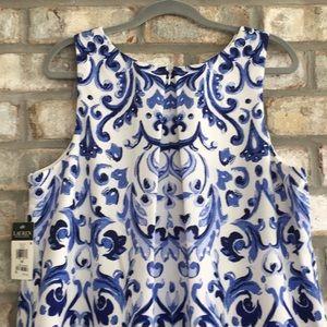 LAUREN RALPH LAUREN Dresses - NWT LAUREN RALPH LAUREN WATERCOLOR A-LINE DRESS 16